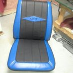 Leather styling on sport seat