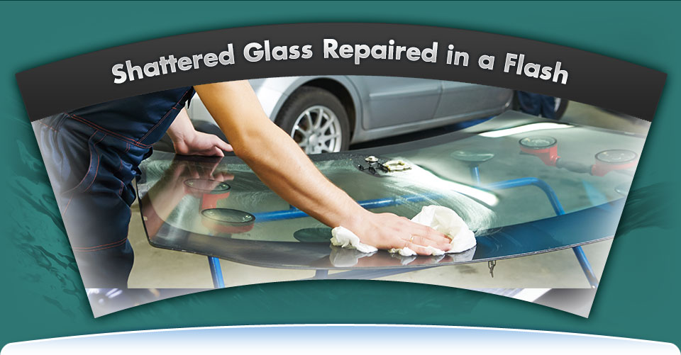 Shattered Glass Repaired in a Flash | preparing a windshield for installation